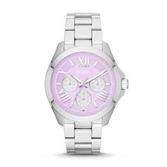 #Fossil Cecile Multifunction Stainless Steel Watch in lavender