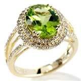 Image detail for -Peridot and diamond wedding rings New York | Wedding Rings