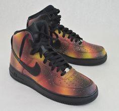 d49abf09d5f7 Custom Solar Flare Galaxy Air Force One Nike Sneakers