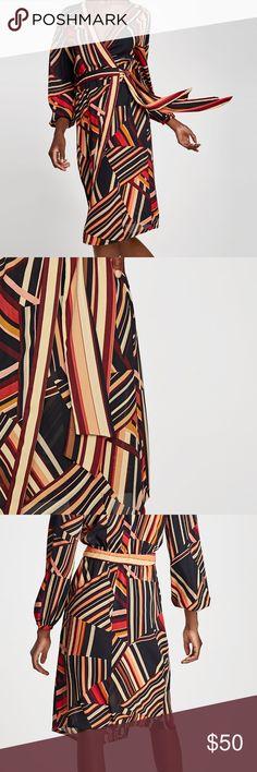 Zara Sarong Dress Wrap dress, wear open or closed. New! Zara Dresses