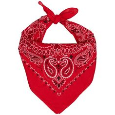WESTERN BANDANA RED ($9.32) ❤ liked on Polyvore featuring accessories, cotton bandana, cotton handkerchiefs, cowboy bandana, red handkerchief and red bandana