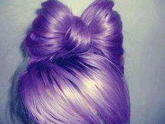 Hair bow #Purple