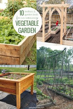 Cultivate a great backyard garden with these DIY vegetable garden ideas for raised vegetable garden beds and vegetable garden trellis ideas you can build yourself. #vegetablegarden #raisedgardenbed #trellis #remodelaholic