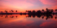 Kerala backwaters, India Most Beautiful Sunsets - Pretty Setting Sun Pictures