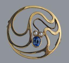 Art Nouveau Brooch by MURRLE BENNETT & CO - Tadema Gallery