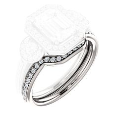 Curved wedding band to fit exactly engagement ring series 7002. i want two for both sides... and in gold/rosegold