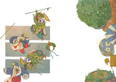 "children's book ""Cao Cao is falling!"" by whooli chen, via Behance"