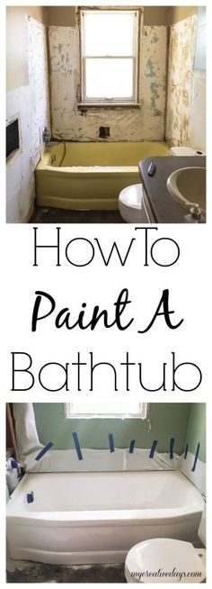 How To Paint A Bathtub - Looking for an inexpensive way to change the bathtub in your home? Paint it! It is easy and inexpensive and looks amazing!