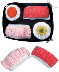 Sushi rattles for babies.