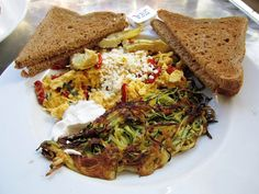 Basil Artichoke Scramble with Zucchini Shreds
