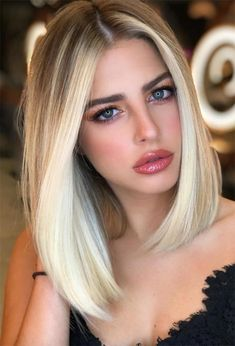 bob hairstyles blonde Lob Haircut Trend: 63 On-Trend Long Bob Haircuts & Hairstyles to Inspire Blonde Haircuts, Long Bob Haircuts, Short Bob Hairstyles, Hairstyles Haircuts, Long Blunt Haircut, Lob Haircut Straight, Long Blunt Bob, Long Bob Hairstyles For Thick Hair, Bob Style Haircuts