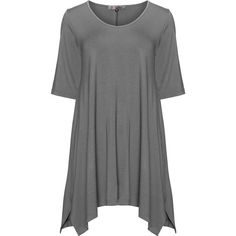 Exelle Grey Plus Size Oversized jersey t-shirt ($73) ❤ liked on Polyvore