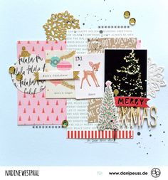 Christmas Scrapbook Layouts, Album Scrapbook, Recipe Scrapbook, Scrapbook Page Layouts, Scrapbook Supplies, Scrapbooking Ideas, Christmas Gift Wrapping, Xmas, Snow Holidays