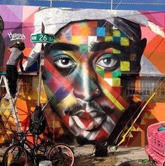Tupac Shakur ♔QueenBee♔ #streetart jd