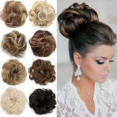 Real Natural Curly Messy Bun Hair Piece Scrunchie Hair Extensions As Human in Health & Beauty, Hair Care & Styling, Hair Extensions & Wigs Messy Chignon, Messy Curly Bun, Bun Updo, Clip In Hair Pieces, Bun Hair Piece, High Bun Hairstyles, Hairstyles For School, Synthetic Curly Hair, Curly Hair Styles
