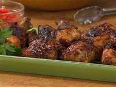 Island-style barbecue with jerk chicken and sweet slaw. Must try this!