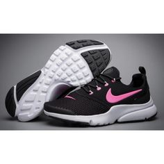 timeless design 3bcca 83aa2 Womens Nike Air Presto BR QS Oreo Black White Pink Running Shoes