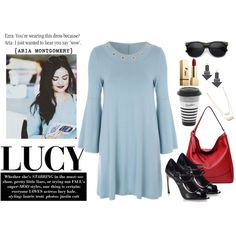 On Trend - Bell Sleeve Dress; Aria Montgomery
