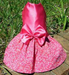 Pink Satin Prom Dog Dress Clothes Apparel by BlueRidgeDivaforPets, $15.99