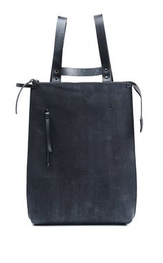 YTN №7 women's minimal hand painted leather backpack
