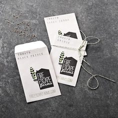 For dad's garden.  Fire Escape Farms Heirloom Tomato Seeds, Set of 3 | Williams-Sonoma