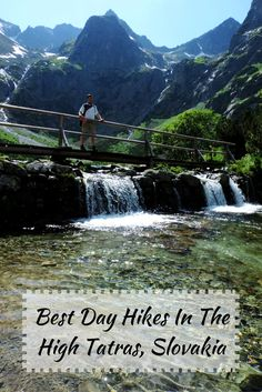 This post is about the best day hikes in the High Tatras. We'll show you our favorite day hikes, and also some of the lesser-known gems. Oh The Places You'll Go, Cool Places To Visit, High Tatras, Colorado Hiking, Green Lake, Bucket List Destinations, Day Hike, Eastern Europe, Tourism