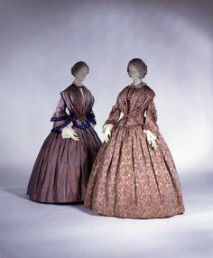 1850, America or Europe - Dress - Silk, cotton