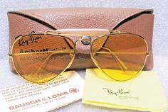 5b9be7a7db Details about New Vintage B L Ray Ban Orbs Metal Deluxe Oval Aviator Matte  Gold W2374 NOS