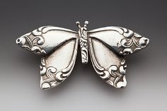 Butterfly from silverware