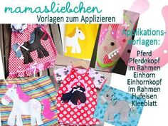 Applikationsvorlage Ebook *Pferd* Applikation von mamasliebchen-naeht auf DaWanda.com