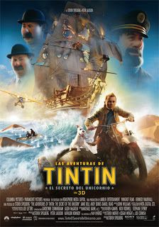 De cine no Esquío: Las aventuras de Tintín. El secreto del unicornio Animated Movie Posters, Original Movie Posters, Film Posters, Tv Series Online, Movies Online, Dark Knight, Tintin Movie, Detective, Kathleen Kennedy