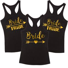 Bride & Bride Tribe T Shirt Pack A fun and fabulous t shirt for the girls to wear during at the Hens Party or weekend away! The More You Buy The Cheaper They Get! The price is for one tsh...