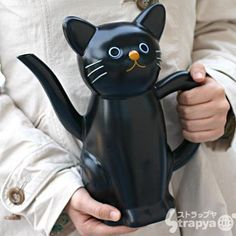 Strapya World : Lovely Cat Watering-pot (Kuro) ($1-20) - Svpply
