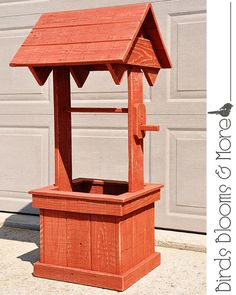 Wishing Well Planter by BirdsBloomsandMore on Etsy
