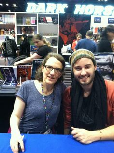 April 26, 2013; C2E2 / Chicago, IL Jane Espenson and Brad Bell - via @Alphalmp  My pic of @Jane Espenson & @Cheeks that I was able to get after they sign my copy of Husbands at #c2ee2 twitter.com/AlphaImp/statu… — Sean(@AlphaImp) April 27, 2013  Cuties!  :D http://husbandstheseries.com; http://lovehusbands.com