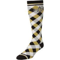 New Orleans Saints Women's 538 Diamond Stripe Socks – Black