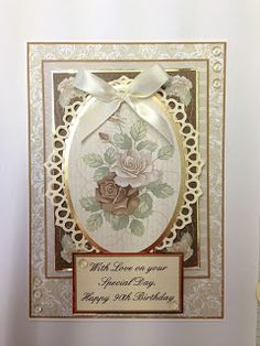 Card Creations: August 2013. Card made using Kanban's Vintage Tapestry paper craft collection for floral / female cards.