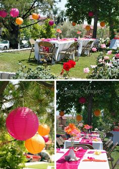 Have a bridal shower outside would be so pretty...if the weather was right. lol