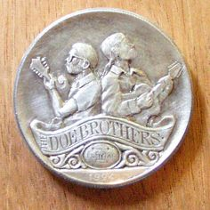 Ron Landis - Doe Brothers - Carving On 1994 Silver Eagle Hobo Nickel, Coin Art, Silver Eagles, Art Forms, Sculpture Art, Buffalo, Stamps, Coins, Miniatures