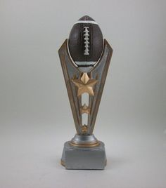"""9"""" Victory Football Trophy Award Youth or Fantasy League. Free engraving. #Unbranded"""