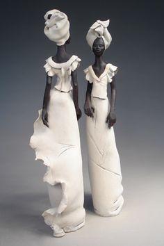 skulpturen mit paverol - pinne ich, weil es absolut faszinierend ist, vorder und rückseite auf das gleiche foto zu bekommen - mit einem Spiegel