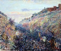 Camille Pissarro - Le Boulevard Montmarte Mardi Gras, 1897