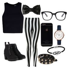 """""""Jail breaker"""" by gurveenpanesar ❤ liked on Polyvore featuring Glamorous, T By Alexander Wang, Call it SPRING, Forever 21, FOSSIL, Valentino and Jewel Exclusive"""
