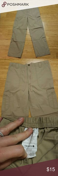 Men's Carhartt cargo pants Cargo styled light weight scrub or utility pant.  Tear proof fabric. EUC.  34x30. Carhartt Pants Cargo