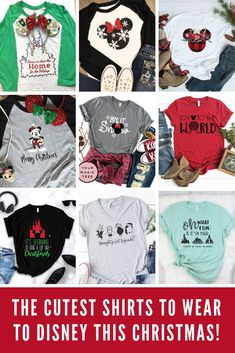 Disney Christmas Shirt ideas {Cute shirts for the Holiday Season!} trending holiday t-shirts from our store and get up to off. You will not find this rare tsirts in any other store, so grab this Limited Time Discount Now! Disney World Shirts, Disney Christmas Shirts, Disneyland Christmas, Mickey Christmas, Disney Shirts For Family, Diy Christmas, Family Shirts, Disney World Christmas Shirts, Disney Diy Shirts