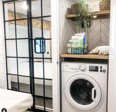 RV Laundry Room- Washer Dryer Combo Laundry Closet, Laundry Room, Washer And Dryer, Rv, Motorhome, Laundry Cupboard, Laundry Rooms, Washing And Drying Machine, Caravan Van