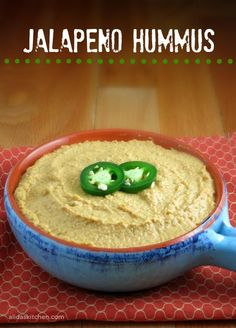Jalapeno Hummus takes minutes to make from scratch. So good! | alidaskitchen.com