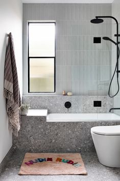Badezimmer Stirling Terrazzo Look Grey Matt Tile Bracelets Through The Ages The earliest bracele Beautiful Bathrooms, Modern Bathroom, Small Bathroom, Master Bathroom, Bathroom Feature Wall Tile, Cement Bathroom, Grey Bathroom Tiles, Bathroom Plants, Boho Bathroom