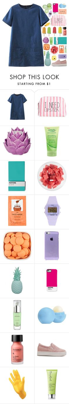 """""""Linh Lam"""" by untake-n ❤ liked on Polyvore featuring Itsa Girl Thing, Zara Home, Seletti, FRUIT, H&M, Timex, Ananas, Pantone Universe, Gatineau and Eos"""