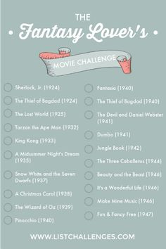 Are you a Fantasy-genre movie lover? Here's a checklist just for you! See ho… Are you a Fantasy-genre movie lover? Here's a checklist just for you! See how many you've watched. Netflix Shows To Watch, Movie To Watch List, Movie List, Top Movies List, 2020 Movies, Teen Movies, Good Movies, Science Fiction, Fiction Movies